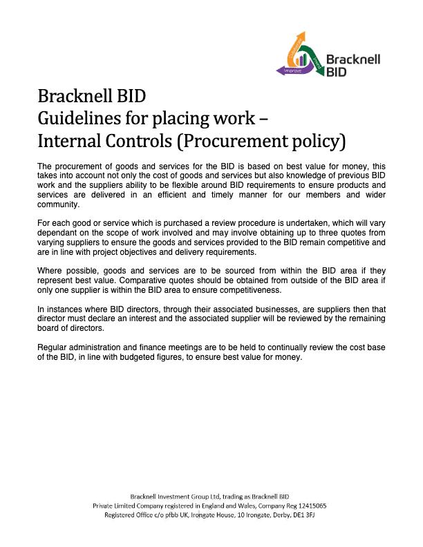 Bracknell BID Procurement Policy-thumbnail